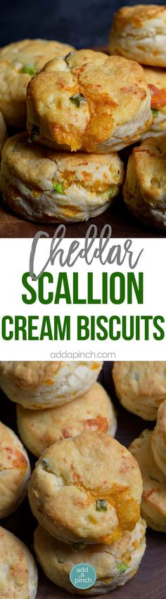 Cheddar Scallion Biscuits Recipe - Tender and delicious, these fluffy, cheesy cheddar scallion biscuits make the perfect addition to any meal and couldn't be easier! // addapinch.com #biscuits #food #recipe #southern #cheesebiscuit #homemadebiscuits #bread #supper #familymeals #easymeal #addapinch