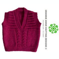 Children's Vest knitting pattern