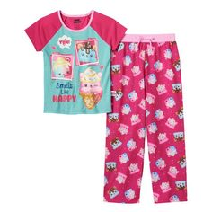 Girls 4-10 Num Noms Candie Puffs, Van Minty & Connie Confetti Scented Pajama Set, Girl's, Size: 10, Light Pink