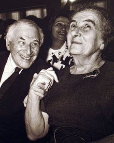 Golda Meier (one of the most important women of Israel) and the Russian-French painter Marc Chagall