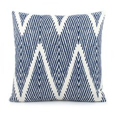 Beach Bum Starfish Reversible Pillow, Blue - Chloe & Olive