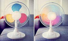 Cómo transformar un ventilador normal en un... ¡ventiladore arcoiris! <3