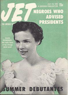 JUL 10 1952 JET MAGAZINE VOL.2 #11 (Diane Dickerson) Jet Magazine, Black Magazine, Social Events, Magazine Covers, Movie Posters, Debutante, Black, Film Poster, Billboard