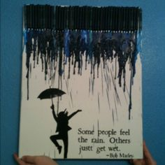Dancing in the Rain - Melted Crayon Art (our finished product)