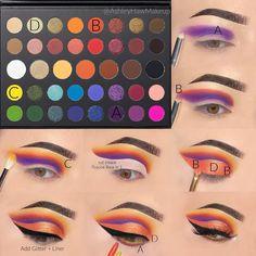Pretty Eye Makeup, Bright Eye Makeup, Makeup Eye Looks, Colorful Eye Makeup, Eye Makeup Art, Crazy Makeup, Skin Makeup, Disney Eye Makeup, Makeup Morphe