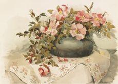 Винтажные цветы.Литография