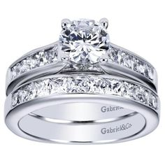 FAVORITE ONE YET 1.75cttw Princess Cut Channel Set Diamond Engagement Ring