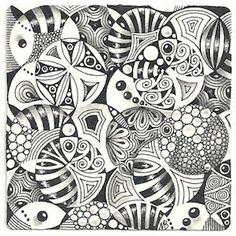 Enthusiastic Artist: Stencil fun with Certified Zentangle Teacher Margaret Bremner Tangle Doodle, Tangle Art, Zen Doodle, Doodle Art, Doodle Designs, Doodle Patterns, Zentangle Patterns, Zentangle Drawings, Doodles Zentangles