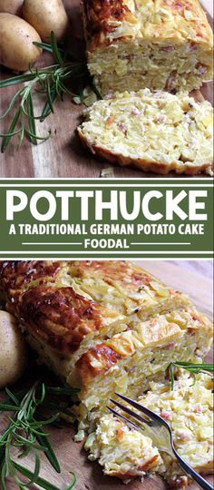 Although the German potthucke started out as a poor person's fare, it has become a popular dish for German restaurants, offering different variations and presenting it as an almost gourmet food. Read about this fine German fare now. German Potato Cake Recipe, German Food Recipes, German Potato Recipes, Recipe For Potato Cakes, German Potato Pancakes, Cake Recipes, German Breakfast, Gourmet Recipes, Cooking Recipes