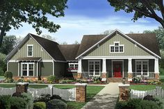 Plan 21-361 - Houseplans.com Just wish it had a formal dining room. I would need the flex space for home office.