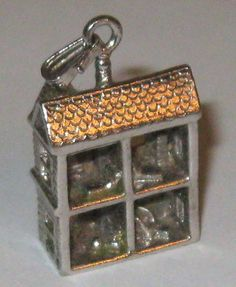 Vintage Sterling Silver Doll House Charm