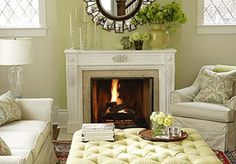 Little Green Notebook: Mantel Styling Inspiration