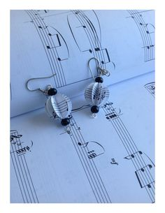 Recycled Music Sheet Hook Earrings by EcoRebelution on Etsy, $15.00