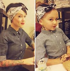 OHMGEEEE. so in love. my little punky oak and i will be donig this when she gets older!
