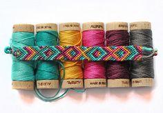 aurifil floss friendship bracelet | Katarina Roccella | Flickr