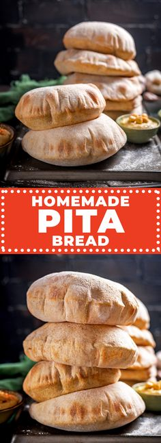 Homemade Pita Bread - Host The Toast Pitta Bread Recipe, Best Bread Recipe, Bread Recipes, Baking Recipes, Yummy Recipes, Wrap Recipes For Lunch, Homemade Pita Bread, Baking Stone, Savoury Baking