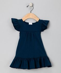 Luca Charles Organics: navy blue ruffle dress Bought on #Zulily for $20 compared to $48 retail :)