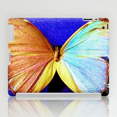 le papillon bleu iPad Case by ganech - $60.00
