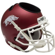Arkansas Razorbacks Schutt Mini Helmet Desk Caddy
