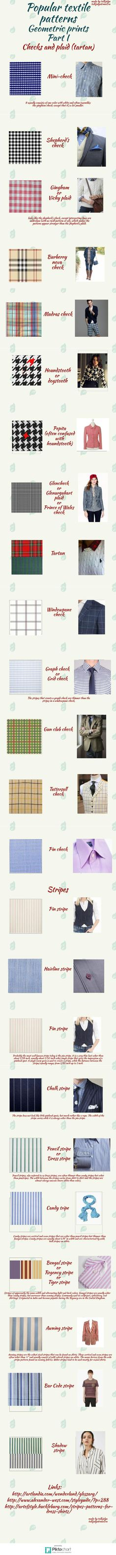 Popular patterns_Checks and stripes_ Part 1 | @Piktochart Infographic