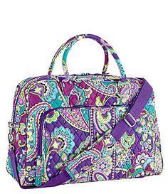 Vera Bradley Weekender Bag... This has been added to my list of Vera bags to buy! Yes, please :)