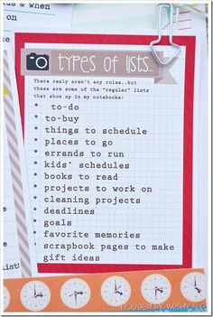 For the list-a-holic in all of us :) Love this and definitely need to make my own list of lists!
