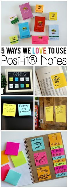 Creative ways to use post it notes! Keep yourself organized or for having fun!