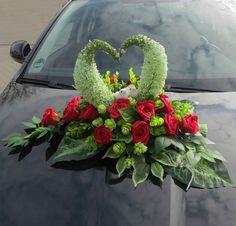 Hochzeitsdeko - A.1. Autoschmuck Autogesteck Hochzeit Gesteck - ein Designerstück von Blumen-Sprockhoff bei DaWanda