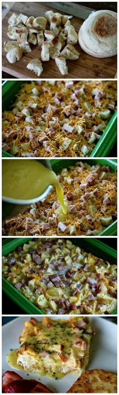 Eggs Benedict Bake Recipe by abbeykoph Breakfast Items, Breakfast Dishes, Breakfast Recipes, Breakfast Casserole, I Love Food, Good Food, Yummy Food, Egg Benedict, Brunch Recipes