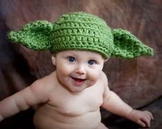 Kostenloser Versand Handgemachte Häkelarbeit Baby Jungen Mädchen Mütze Neugeborenes Kleinkind kinder Strickmütze Yoda Hut Baumwolle Foto prop(China (Mainland))