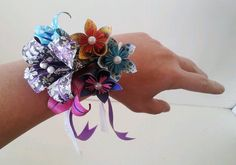 Paper Flower Origami Wrist Tie Corsage Wedding Lily Daisy Alternative Accessories