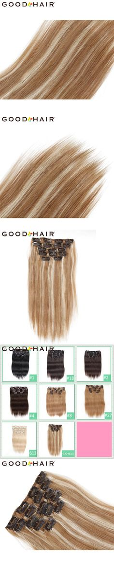 Britney spears good hair extension hair extensions pinterest good hair 14 18 straight long clip in hair extensions full head 7pcs pmusecretfo Images