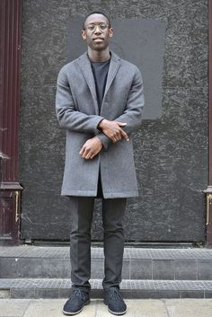 Men's street style | 50 shades of Grey - Different shades of grey could actually pull together really well. Experiment with different shades of grey whilst layering and this gives your look that minimalist bonus. | Shop the look at The Idle Man