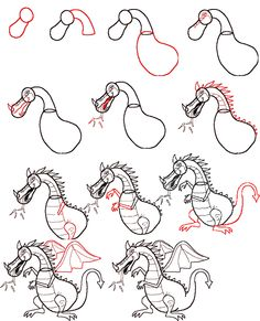 How To Draw Simple Learn How To Draw A Dragon With Simple Step By