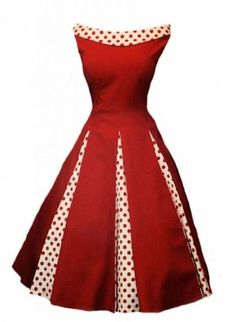 Rosetta 50's Rockabilly Classy Polka Dot Swing, Pin Up, Cocktail Party Tea Dress…