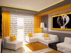Фото Гостиная - интерьер, зd визуализация, квартира, дом, гостиная, 10 - 20 м2, интерьер