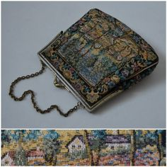 Vintage evening bag Pretty tapestry party by VintageGreenClothing, £15.99