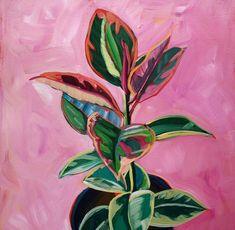 Sari Not Sorry Art from Sari Shryack - gouache painting Plant Painting, Plant Art, Painting & Drawing, Gouache Painting, Painting Inspiration, Art Inspo, Guache, Watercolor Art, Canvas Art