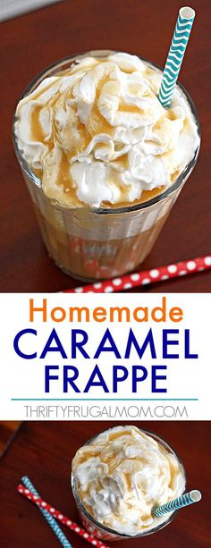 Easy Homemade Caramel Frappe Oh my goodness! This homemade caramel frappuccino recipe is amazing! I don't even go to Starbucks anymore because it's so delicious and easy to make. It's also healthier which I love. Keto Frappuccino Recipe, Caramel Frappe Recipe, Keto Coffee Recipe, Sauce Caramel, Caramel Frappuccino, Starbucks Caramel, Healthy Starbucks, Starbucks Recipes, Coffee Recipes