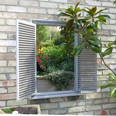 Shuttered mirrors for your garden and home