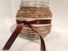 DIY Twine Mason Jar