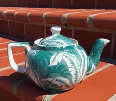 Full-sized TEPCO Green Palm Teapot.  Exceptionally rare piece.
