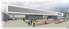 Andorra football stadium, exterior. Govern d'Andorra. Esther Pascal / Miquel Turne / Jordi Grane Telf: +34 654.065.999 www.qdarquitectura.com