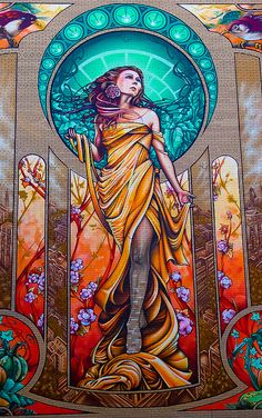 Our Lady of Grace nouveau mural