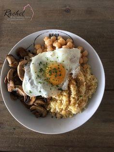 Assiette complète 1 : Quinoa, pois chiches, champignons et oeufs. Voici une nouvelle recette complète qui va vous permettre de perdre du poids.