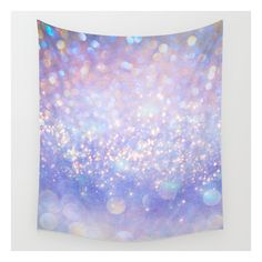 Leave A Little Sparkle (dream Dust) Wall Tapestry ($39) ❤ liked on Polyvore featuring home, home decor, wall art, wall tapestries, interior wall decor, outside wall art, outdoor home decor and tapestry wall art