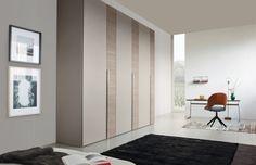 home office-wohnzimmer-wohnideen schrank-holz elemente-metallgriffleisten
