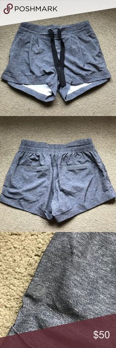 3537445c Lululemon spring break away short 4 Perfect condition Not sold anymore  Price firm Grey with black