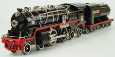 Lionel Standard Gauge pre-war trains have a terrific history to them and are really amazing trains. From the MIghty Lionel 400e Shown above to the Giant 381e Locomotive which was the heaviest locomotive made by LIonel Shown Below. This was a monster of a locomotive with two operating Motors inside of the frame.