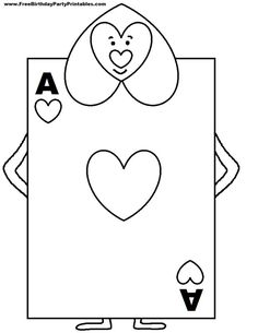 Image result for playing cards coloring page